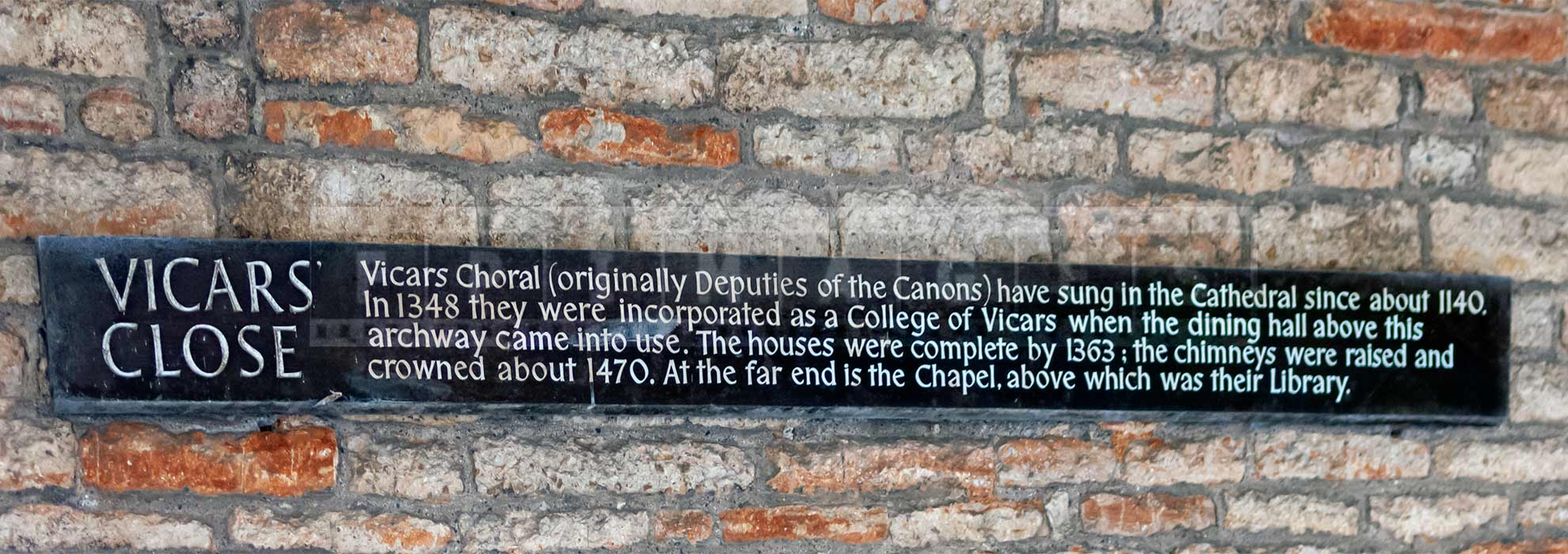 history of Vicars Close