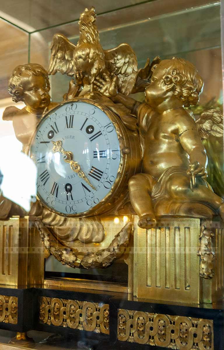 gilt bronze antique clock