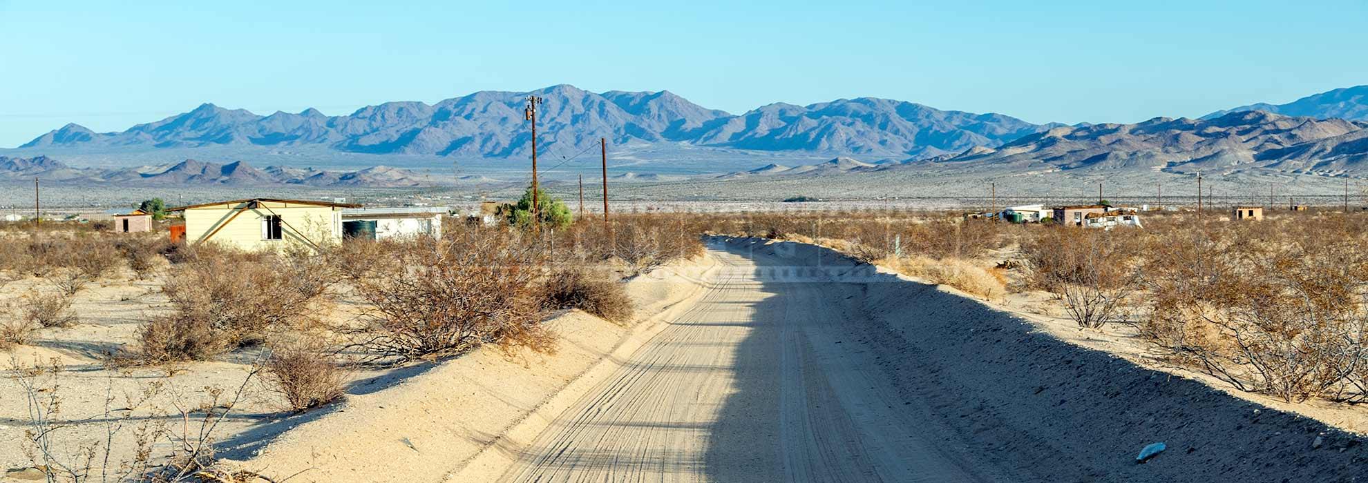 Sand road in the high desert landscape