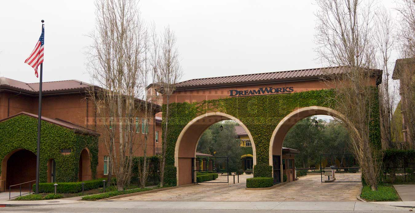 The Entrance to the DreamWorks Studios