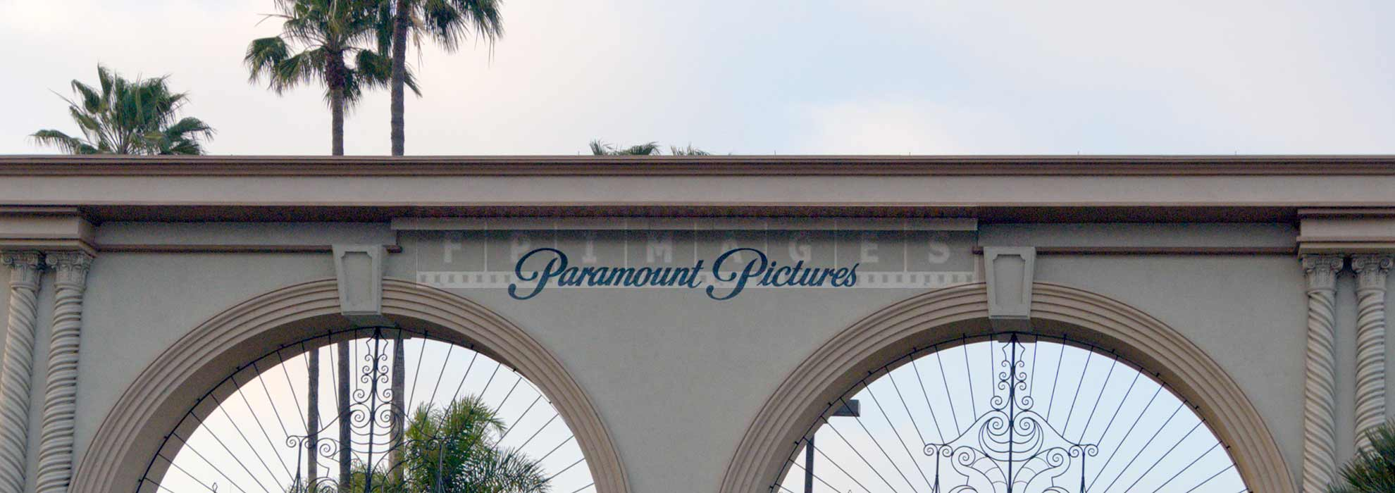 Paramount Pictures gate in Hollywood