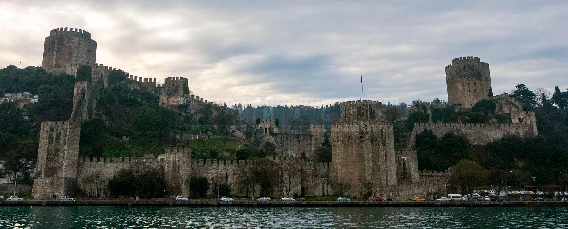 Rumeli Castle on the European side of the Bosphorus in Istanbul, Turkey